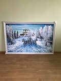 Продається картина неймовірної краси зимового пейзажу (207х127 см) Чернівці