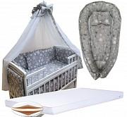 Скидка 50%! Набор в детскую кроватку: постель, матрас ортопед, кокон. Київ