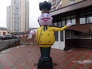 Рукомах повар. Надувной Марио. Надувная реклама с подсветкой Київ