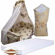 Акция! Набор в кроватку: матрас кокос, постель 8 элементов, конверт. Новое Киев