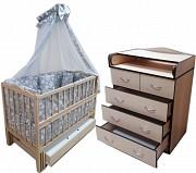Акция! Новое. Комплект кровать с комодом. Постель и матрас кокос в подарок Киев