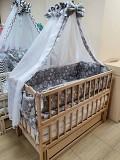 Акция! Комплект: кроватка маятник, матрас кокос, постель 8 элементов. Новое Вінниця