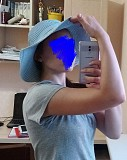 Шляпа пляжная шляпка голубая с бантом с завязкой синяя белая шляп доставка из г.Запоріжжя