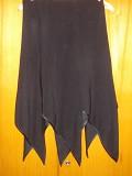 Юбка черная с декоративным низом доставка із м.Полтава