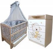 Акция! Комплект мебели: комод, кроватка маятник, матрас кокос, постель Харків