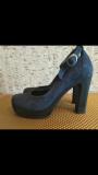 Туфли синие р. 37 (натуральная замша) доставка из г.Винница