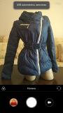 Куртка зимняя / синий пуховик р. S доставка із м.Вінниця